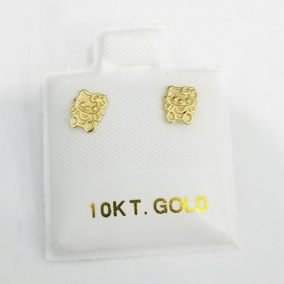 978d27506 none branded Jewelry | New 10k Yellow Gold Hello Kitty Earrings Kids ...
